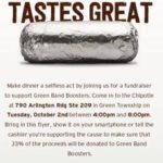 Chipotle Fundraiser for Green marching band
